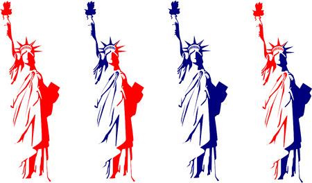 liberty island: Statua della Libert� Vettoriali