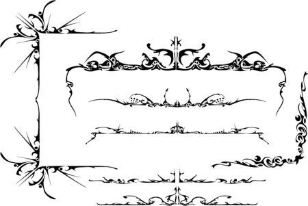vector tribal ornate set eps 8 Vector