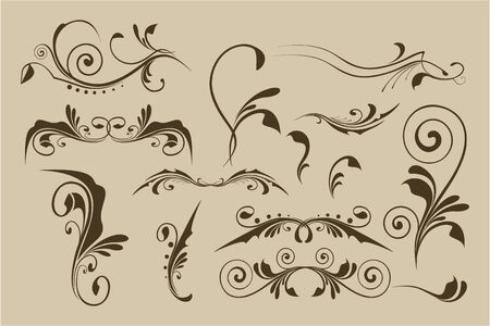 flourishes: Set of vector patterns for design