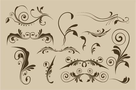 flourishes: Set of vector patterns for design