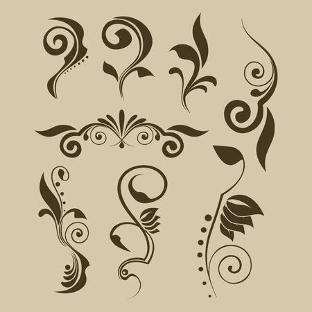 Set of vector patterns for design Vector