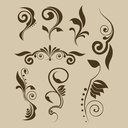 Set of vector patterns for design Vector