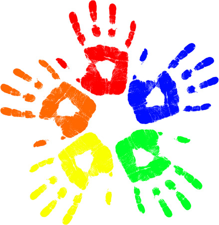 vector color hand Vector