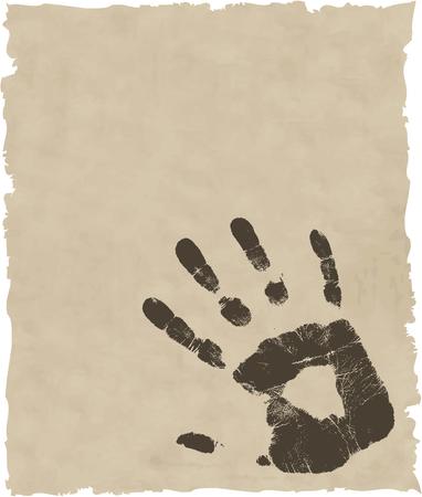 vector grunge hand Vector