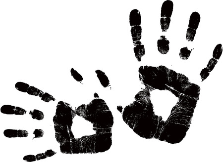 vector black handprint Stock Vector - 4174108