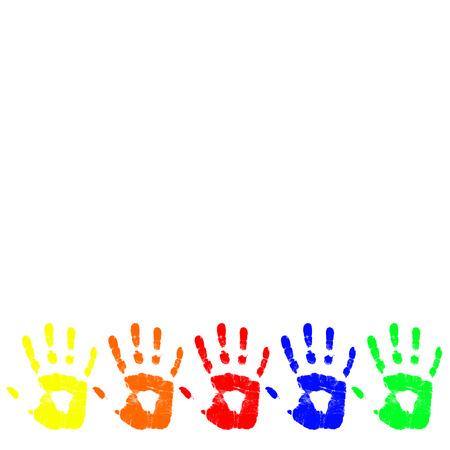empreintes digitales: vecteur de couleur main