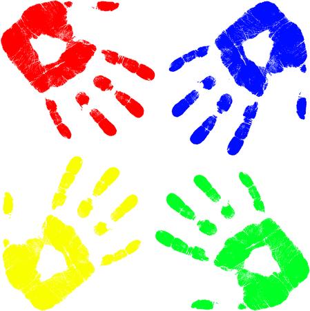 blue prints: vector color hand Illustration
