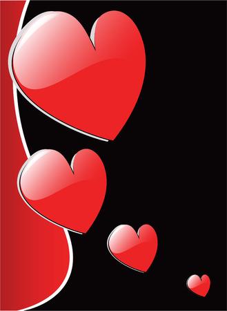vector valentines hearts 8 Vector