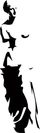 sculptures: vector venus silhouette 8
