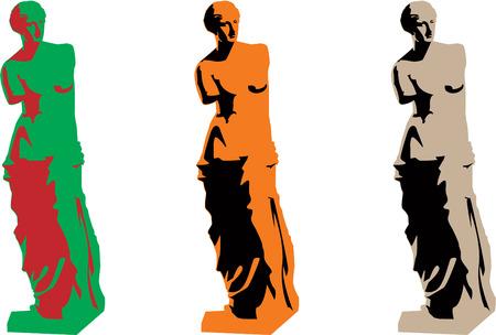 voluptuous: vector venus color silhouette set 8 Illustration