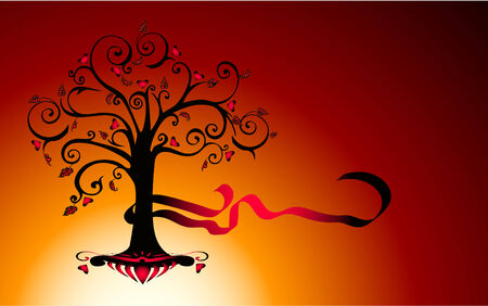abstract tree eps8 Vector