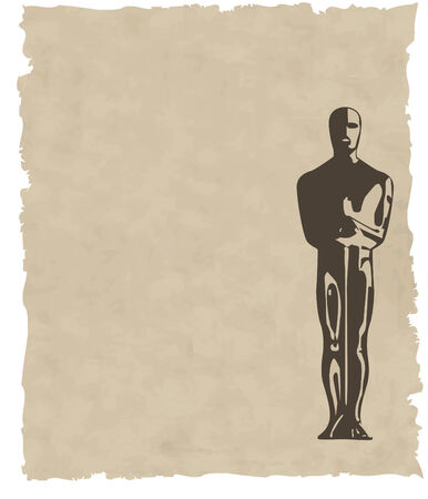 hollywood: vector oscar statuette background eps8