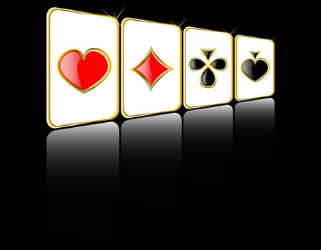 chances are: vector play card set 8 Illustration