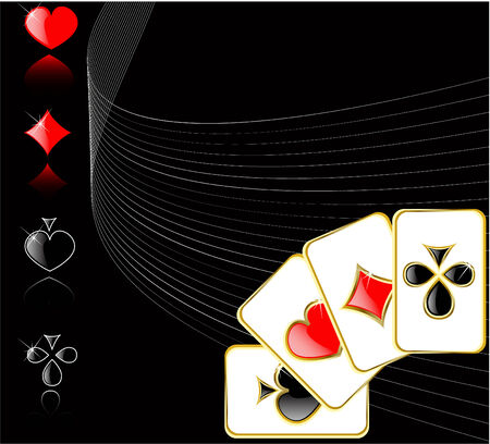 game of chance: vector play card set 8 Illustration