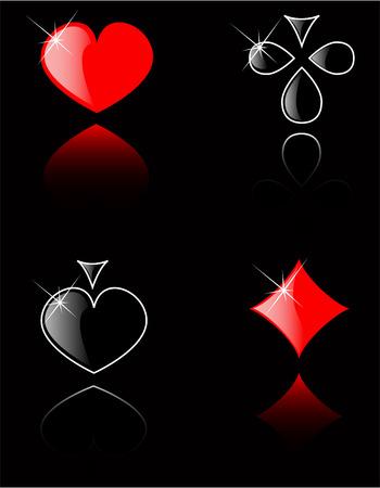 lasvegas: vector play card set 8 Illustration