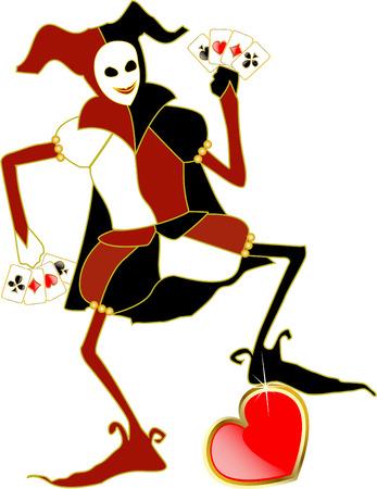 poker hand: vector joker Illustration