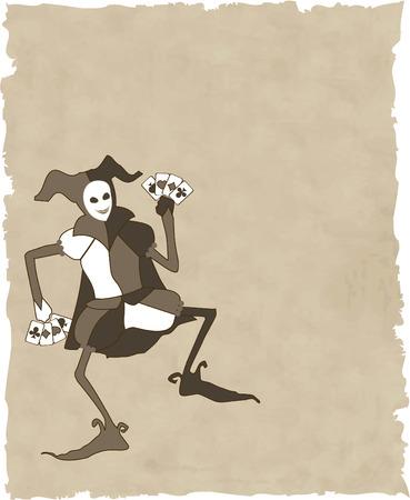 harlekijn: vector joker Stock Illustratie