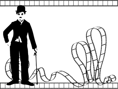 chaplin: vector silhouette chaplin  Illustration
