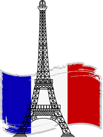 french culture: the vector eiffel tower Illustration