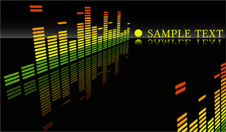 the vector  equalizer abstract background Vector
