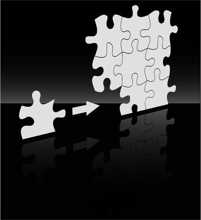 absract: lo sfondo di puzzle absract vettoriale