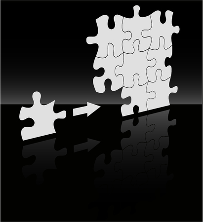 the vector absract puzzle background Vector