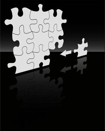 absract: il vettore absract puzzle di sfondo Vettoriali