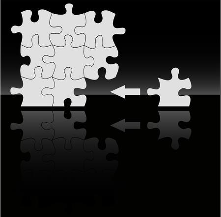 absract: Sullo sfondo absract puzzle vector