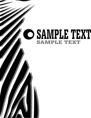 skin structure: vecror zebra abstract background with text Illustration