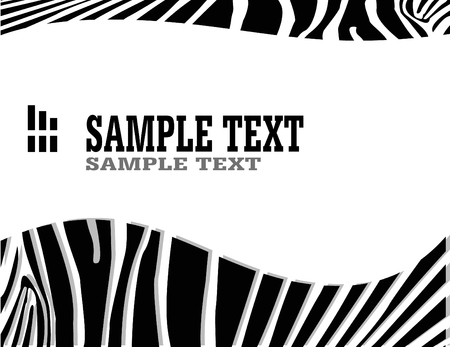zebra: vecror zebra abstract background with text Illustration