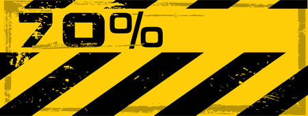the vector dirty orange danger banner with text Vector