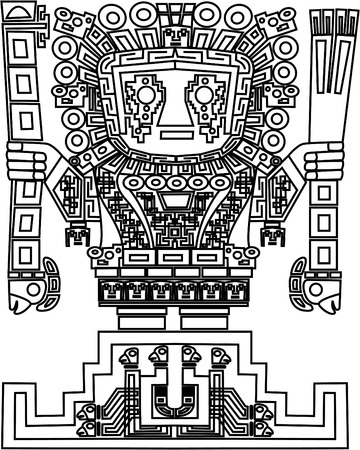 ancient relics: vector mayan and inca tribal symbols