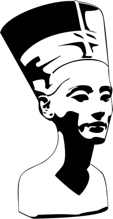 egyptian woman: vector head of Nefertiti