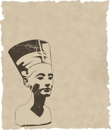 vector head of Nefertiti Vector