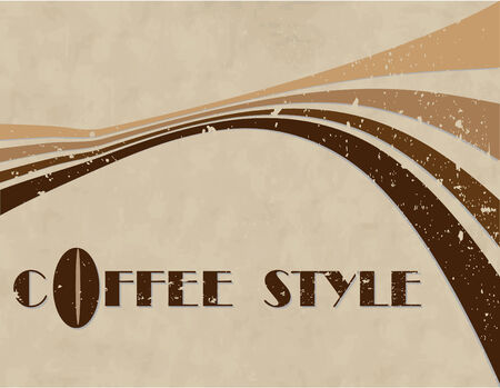 the vector coffee style background  Stock Vector - 4525959