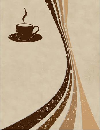 d�tente: le caf� vecteur style d'arri�re