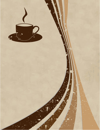 the vector coffee style background Stock Vector - 4525958