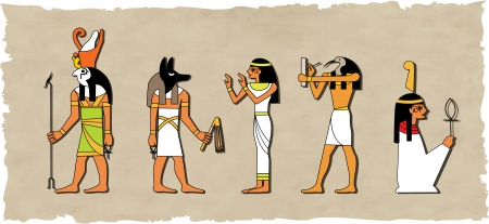 the vector set of egyptian god Vector
