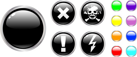 the vector danger color buttons Stock Vector - 4525954