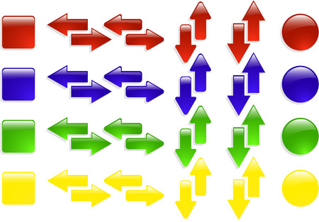 the color vector web arrow icon set 8 Vector