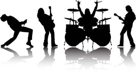 the vector musicans silhouettes set 8 Vector