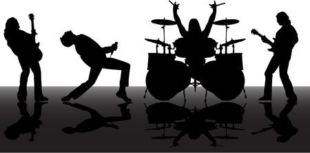 guitariste: les silhouettes de musicans vecteur d�fini 8