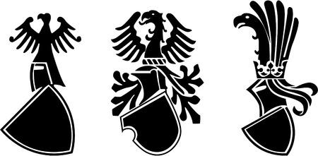 the vector medieval heraldic shield 8 Vector