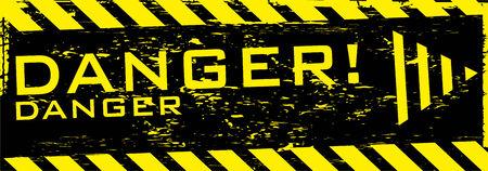 the vector dirty orange danger banner with arrow Vector