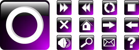 the vector set violet web icon 8 Stock Vector - 4578640