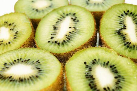 the kiwi isolated on white background photo