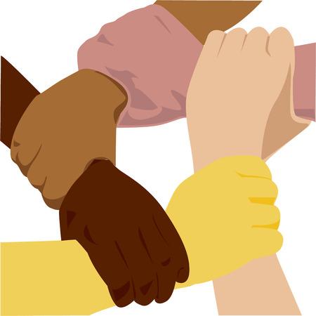 onestà: la mano etnia vettoriale eps 8