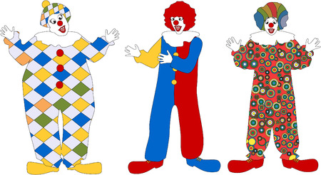 stylistic embellishments: The clown set with a gift 8 Illustration