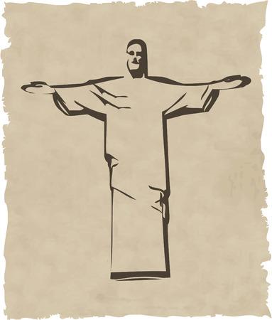 the vector iesus christ rio de janeiro statue silhouette 8