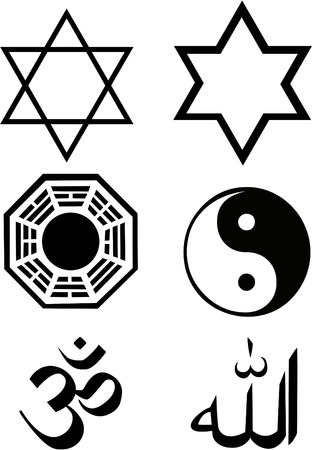 hinduism: the vector religion symbol set